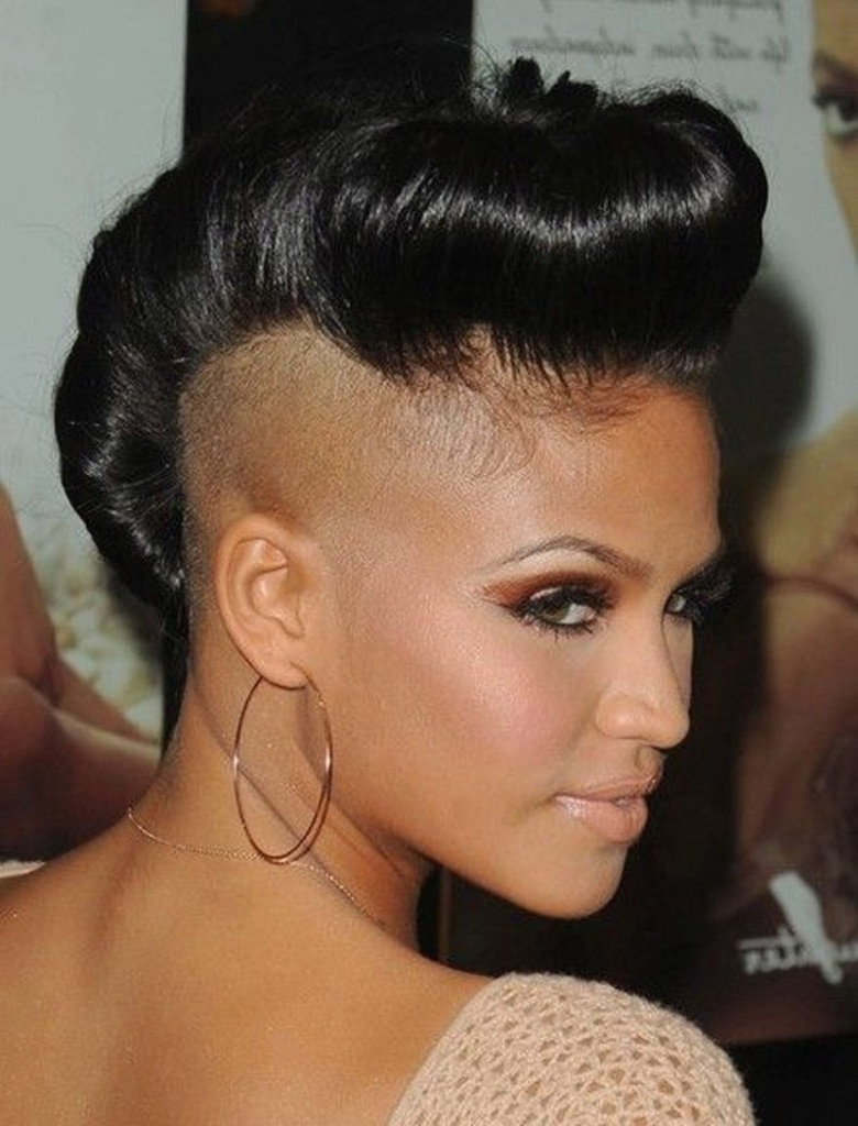 18 Luxury Black Hairstyles One Side Shaved Pics Inside Popular Part Shaved Medium Hairstyles (View 1 of 20)