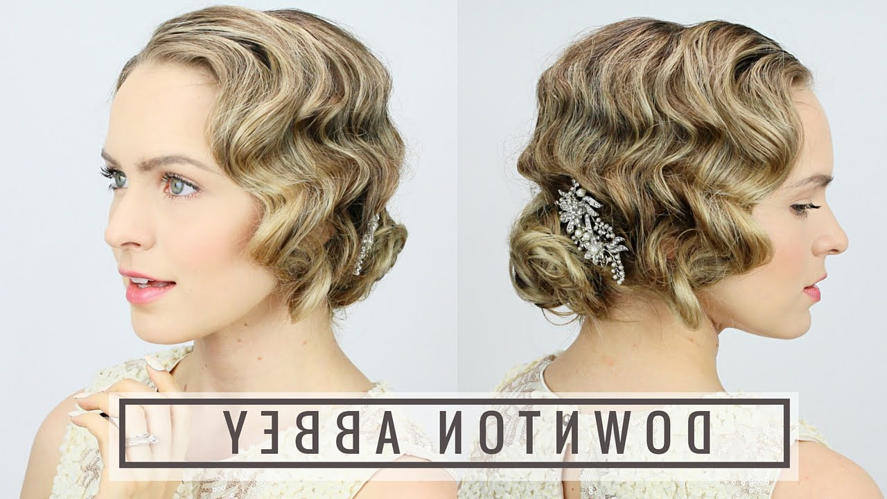 1920's Finger Wave Updo! – Youtube In Famous Twenties Medium Hairstyles (View 3 of 20)