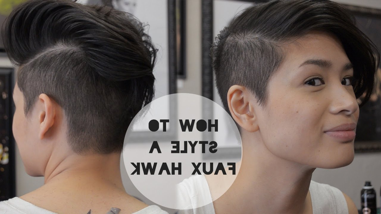 2 Hairstyles W/ Reina Demoss – Youtube With Well Liked Curly Style Faux Hawk Hairstyles (View 1 of 20)