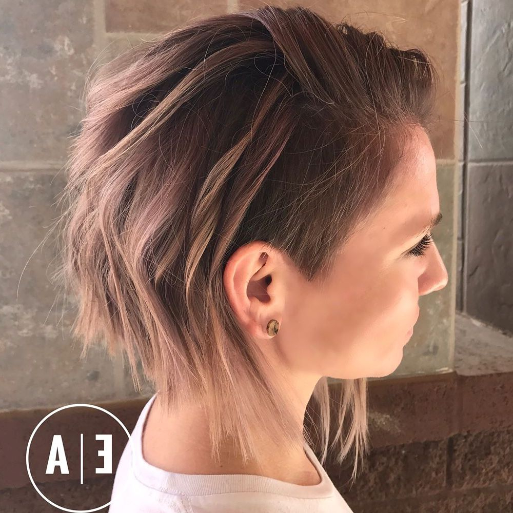 20 Cute Shaved Hairstyles For Women With Favorite Medium Hairstyles One Side Shaved (View 1 of 20)