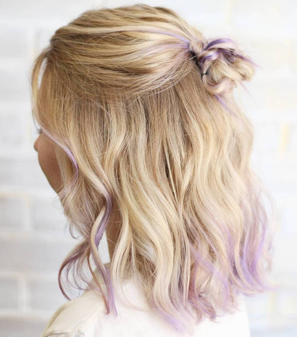 20 Ideas How To Spice Up Your Half Bun Inside Newest Medium Hairstyles Half Up (View 7 of 20)