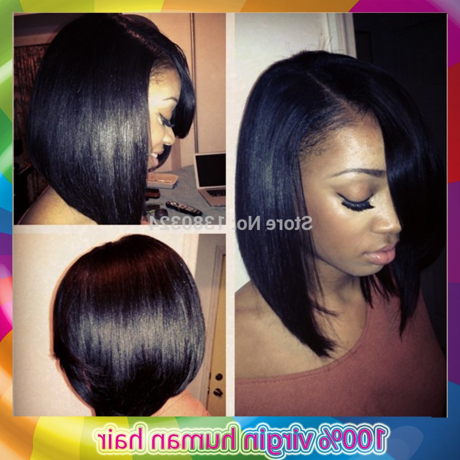 2014 New Products Layered Bob U Part Wig Unprocessed Virgin Human Inside Preferred Bob Medium Hairstyles For Black Women (View 3 of 20)