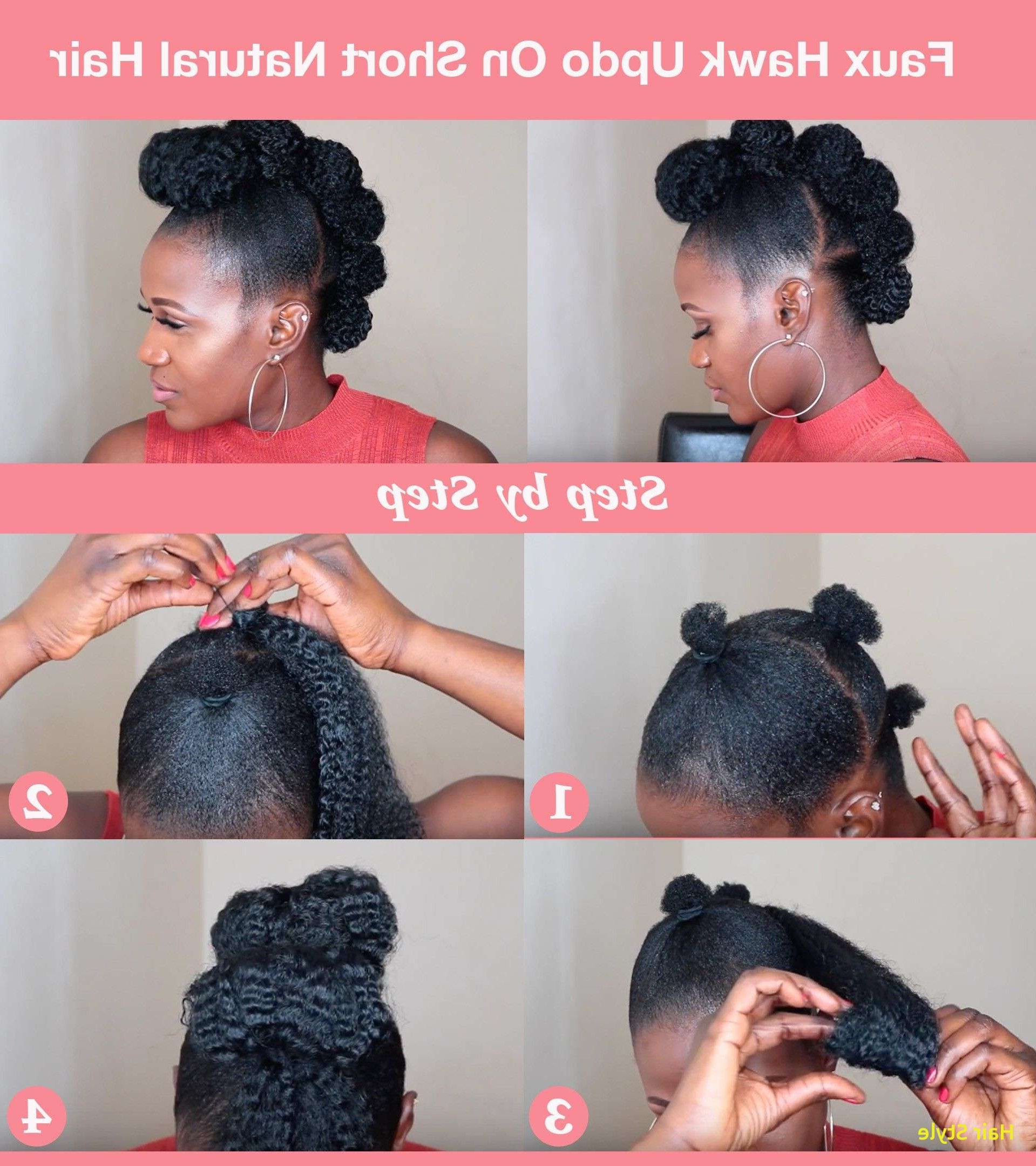 2017 Athenian Goddess Faux Hawk Updo Hairstyles Intended For Protective Style* Twisted Faux Hawk Updo – Youtube (View 2 of 20)