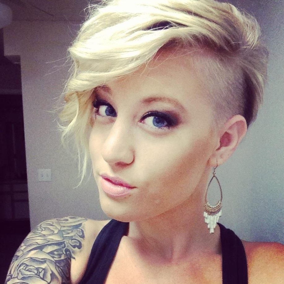 2017 Bleached Feminine Mohawk Hairstyles With Regard To 25 Hairstyles For Summer 2019: Sunny Beaches As You Plan Your (View 2 of 20)