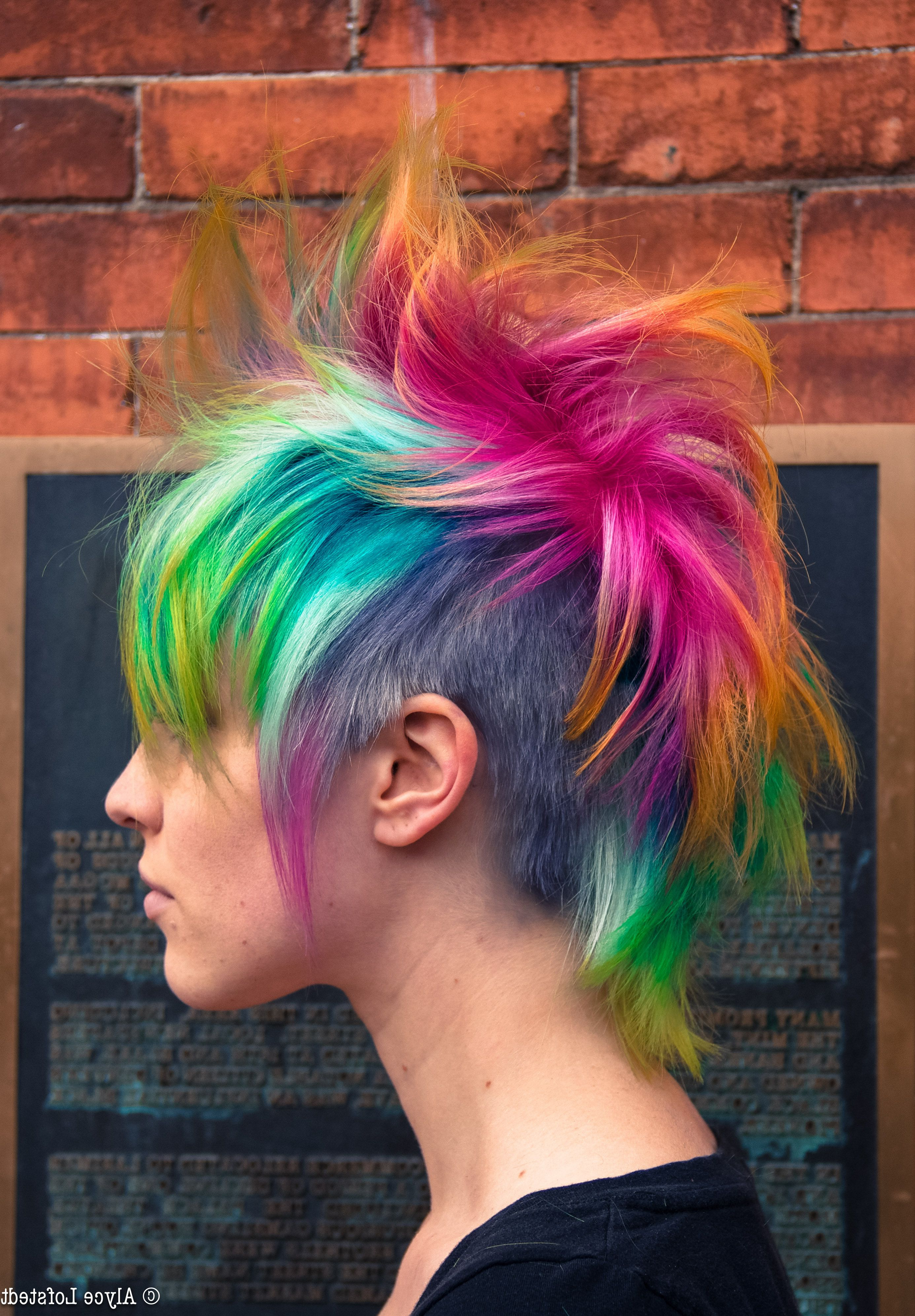 2017 Funky Pink Mohawk Hairstyles Within Big Pink Ombre Temporary Hair Dye Set (View 2 of 20)
