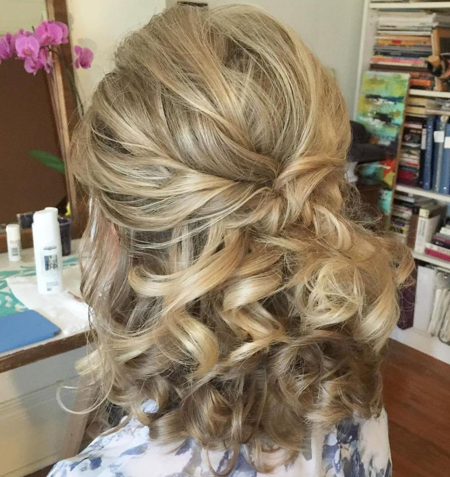 2017 Half Short Half Medium Haircuts Regarding 50 Half Updos For Your Perfect Everyday And Party Looks (View 4 of 20)