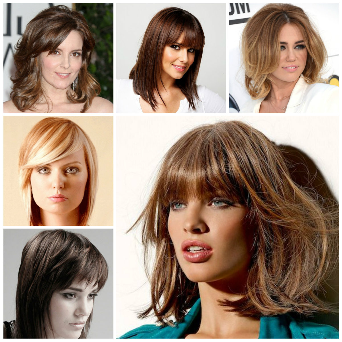 2017 Ladies Medium Hairstyles With Fringe With 2019 Bang Hairstyles For Medium Hair (View 15 of 20)