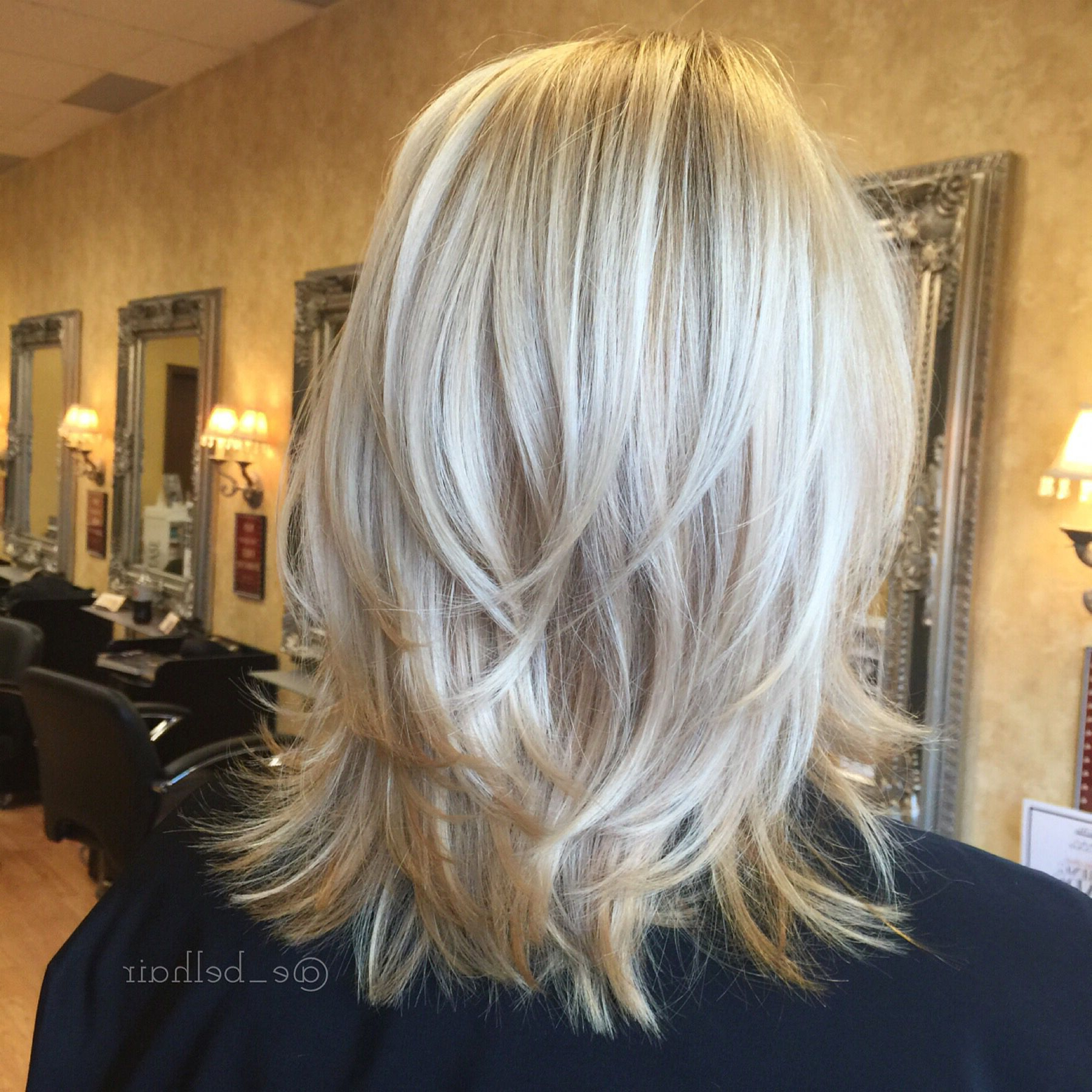 2017 Layered, Flipped, And Tousled Hairstyles Inside Shoulder Length Cut With Tousled Layers And Fresh Blonde Color (Gallery 4 of 20)