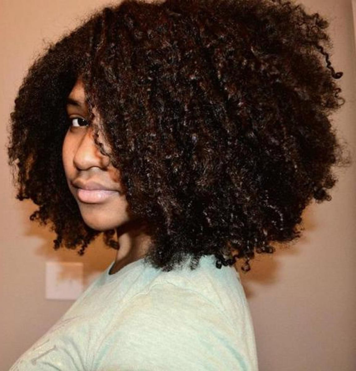 2017 Medium Haircuts For Naturally Curly Black Hair Intended For Images For > Natural Hairstyles For Medium Hair (View 3 of 20)