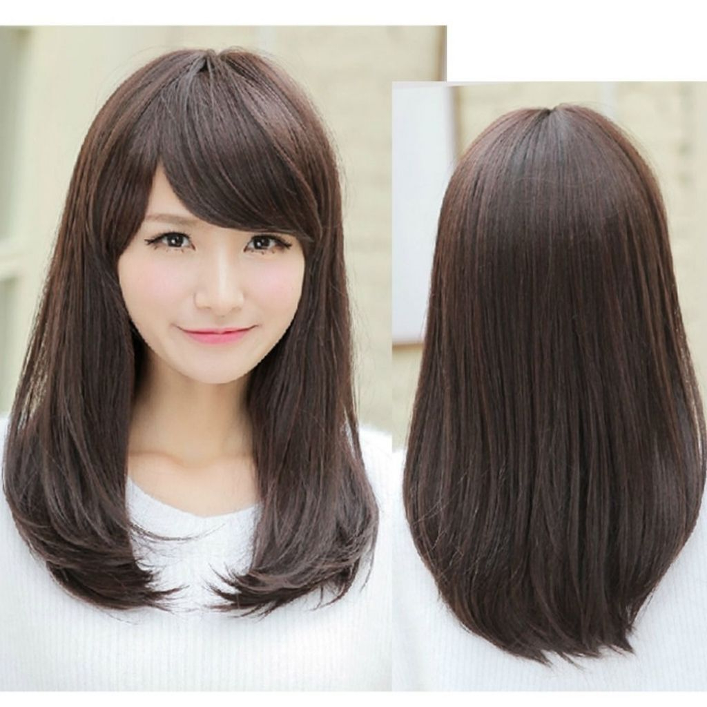 2017 Medium Hairstyles With Straight Bangs Throughout Medium Hair Straight Bangs Online Get Cheap Side Bangs Straight Hair (View 8 of 20)