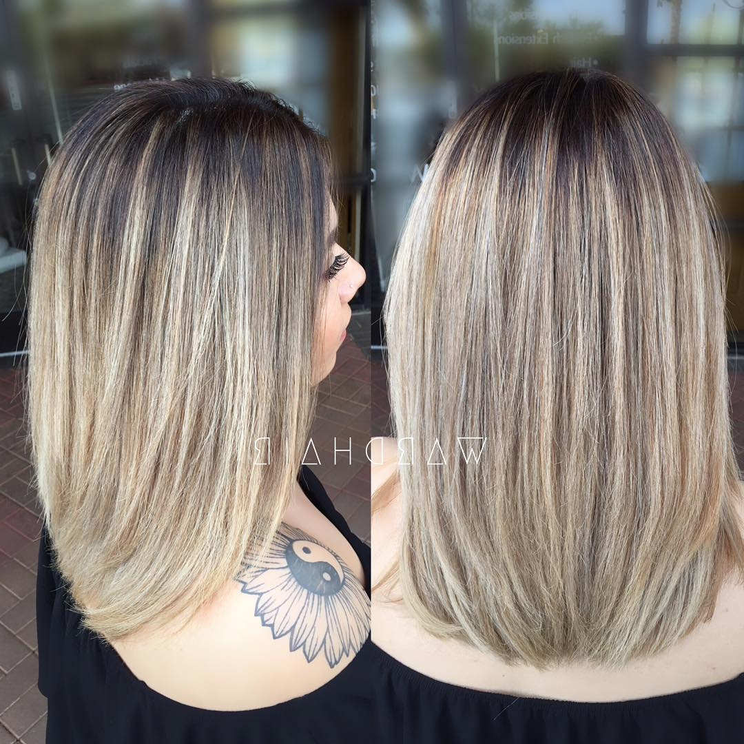 2017 One Length Medium Haircuts Within 30 Chic Everyday Hairstyles For Shoulder Length Hair (View 17 of 20)