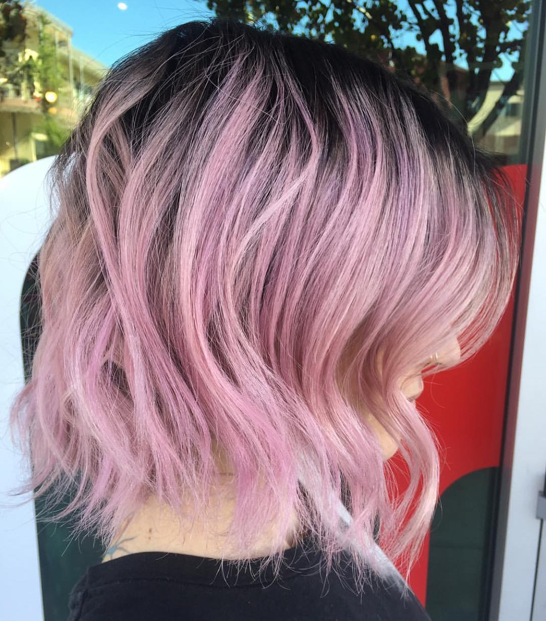 2017 Pink Medium Hairstyles Within 28 Best New Short Layered Bob Hairstyles – Popular Haircuts (View 5 of 20)