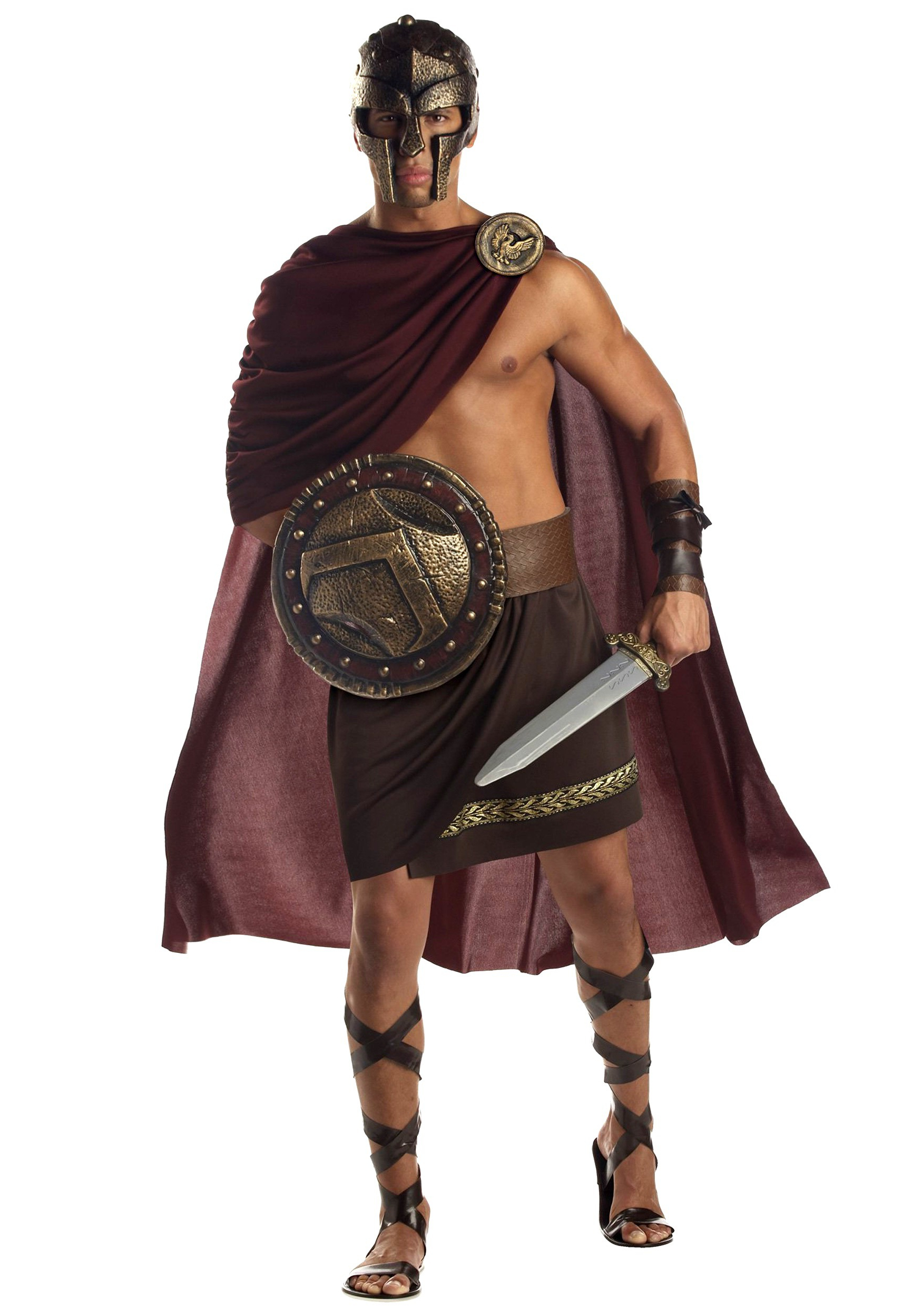 2017 Spartan Warrior Faux Hawk Hairstyles Pertaining To Spartan Warrior Adult Costume (View 1 of 20)