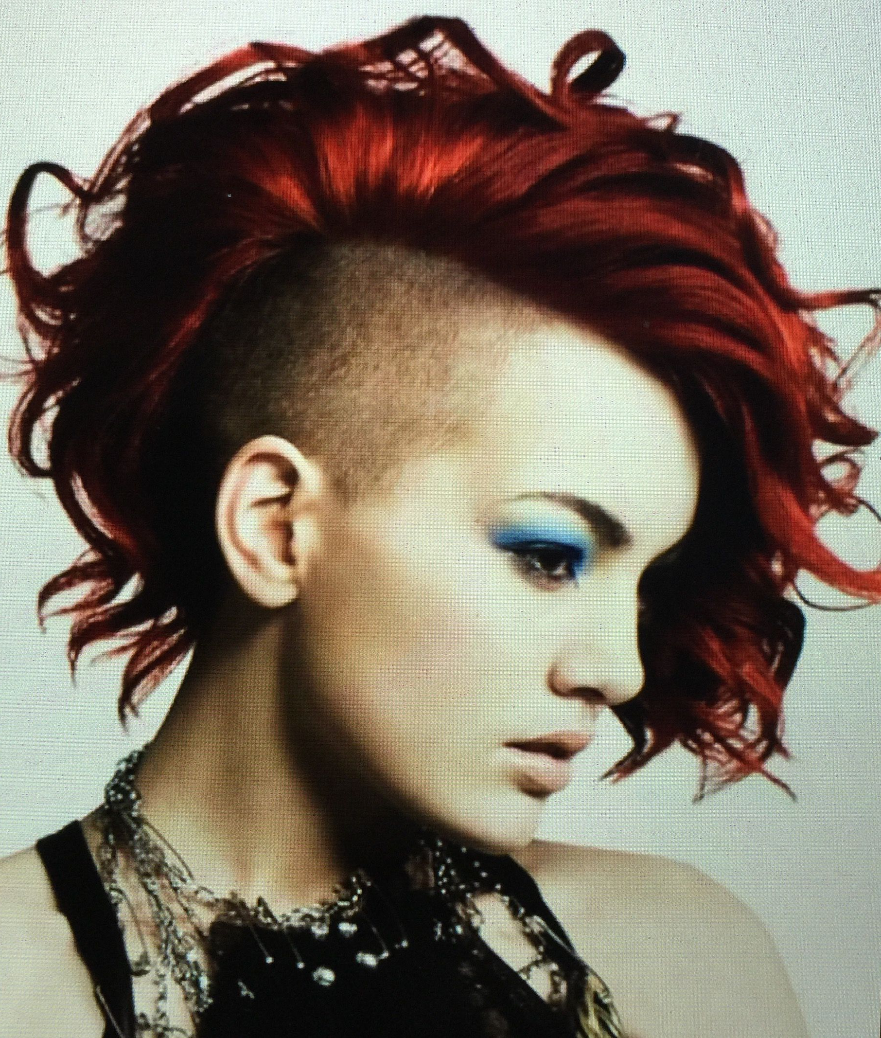 2017 Vibrant Red Mohawk Updo Hairstyles Regarding Pinjasmine Alshabani On Patient Omega Podcast In (View 2 of 20)