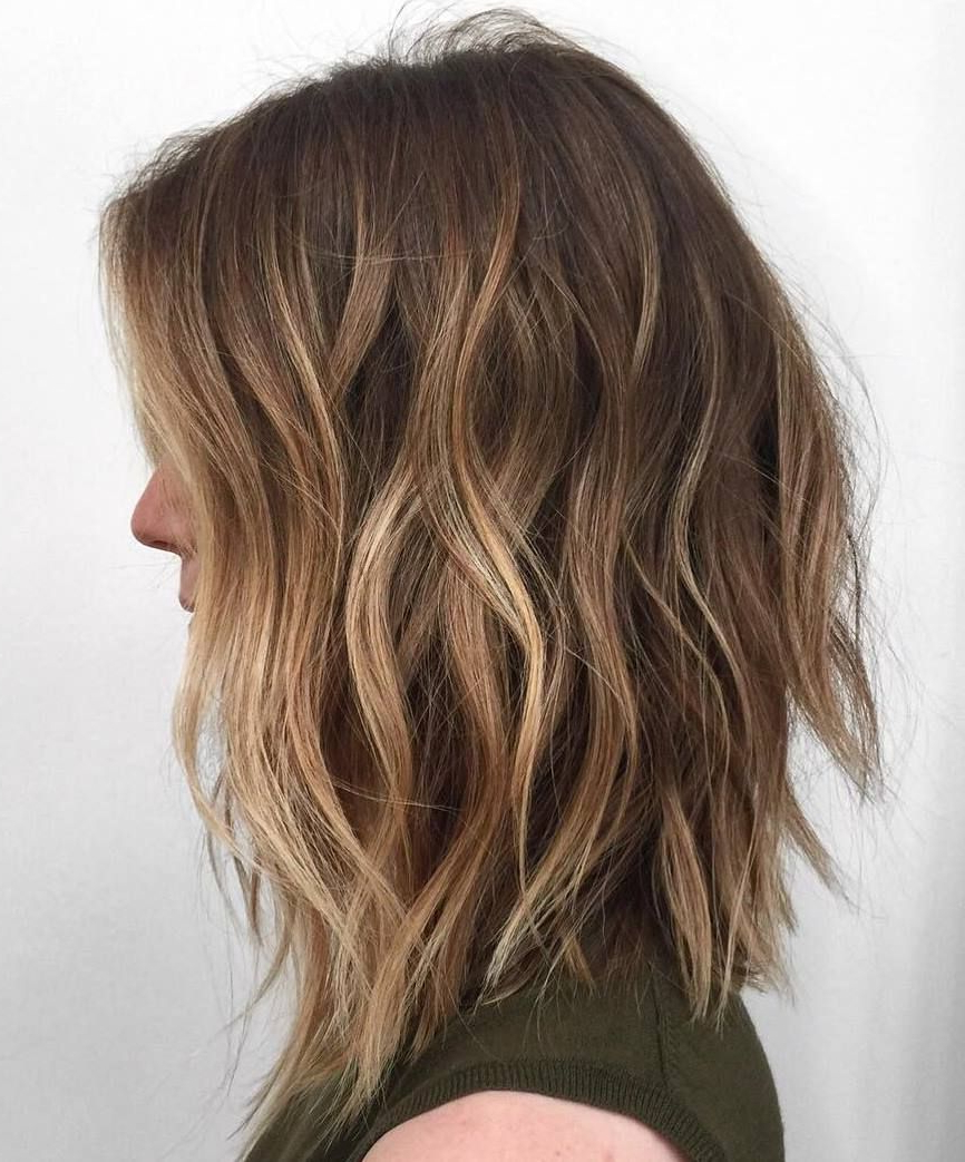 2018 Caramel Lob Hairstyles With Delicate Layers Inside 60 Balayage Hair Color Ideas With Blonde, Brown, Caramel And Red (View 1 of 20)