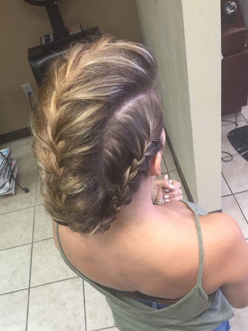 Photo Gallery of French Braid Pinup Faux Hawk Hairstyles