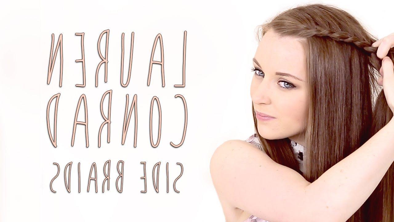 2018 Lauren Conrad Medium Hairstyles Within Lauren Conrad Side Braid Hair Tutorial – Youtube (View 15 of 20)