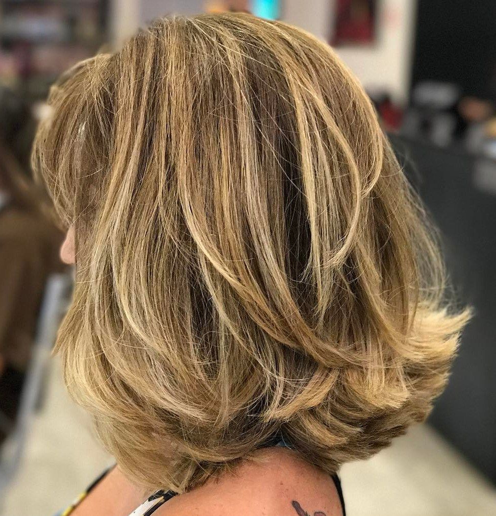 2018 Long Bob Hairstyles With Flipped Layered Ends Inside 80 Sensational Medium Length Haircuts For Thick Hair (View 2 of 20)