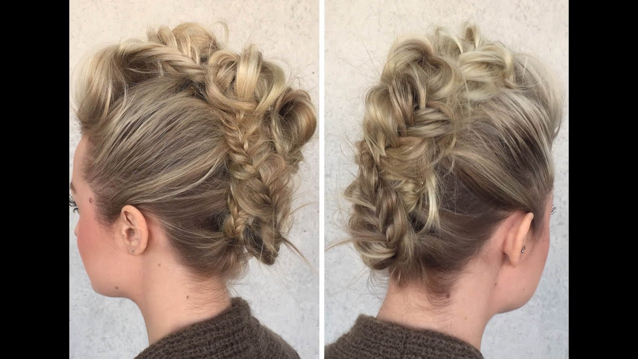 2018 Messy Fishtail Faux Hawk Hairstyles Throughout Fishtail Fauxhawk – Youtube (View 9 of 20)
