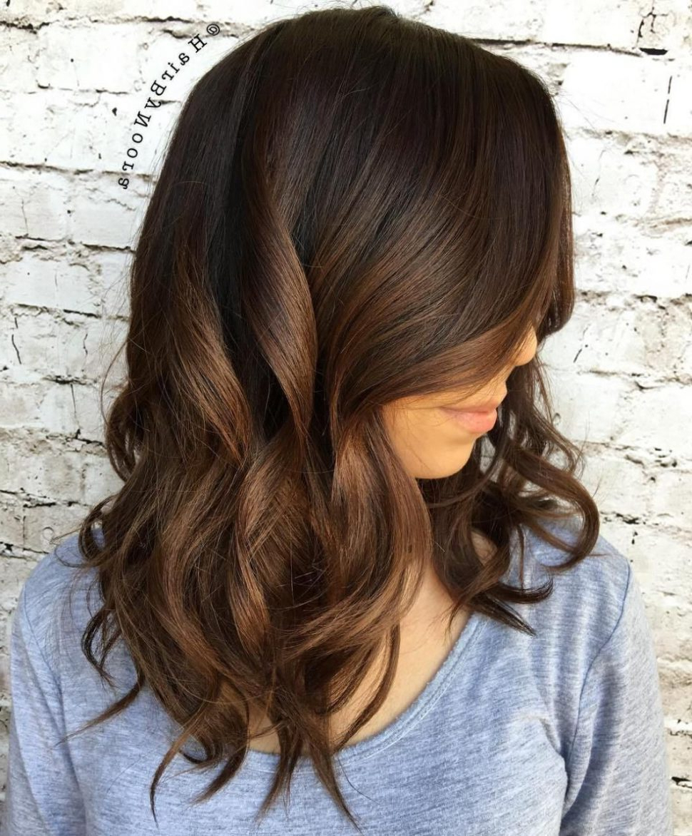 2018 Ombre Medium Hairstyles Intended For Hair Color : Brunette Ombre Hair Excellent Color Ideas Medium Length (View 12 of 20)