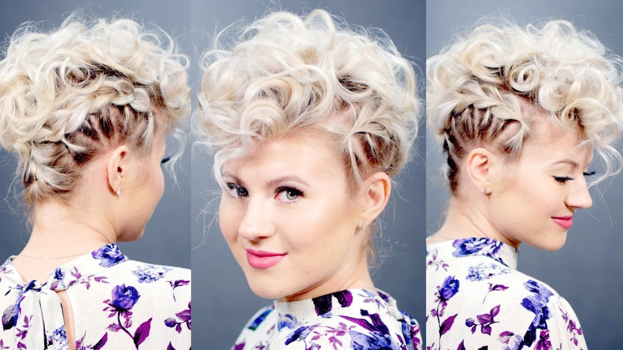 2018 Retro Curls Mohawk Hairstyles Throughout Creative Short Hairstyle: Retro Faux Hawk (View 1 of 20)
