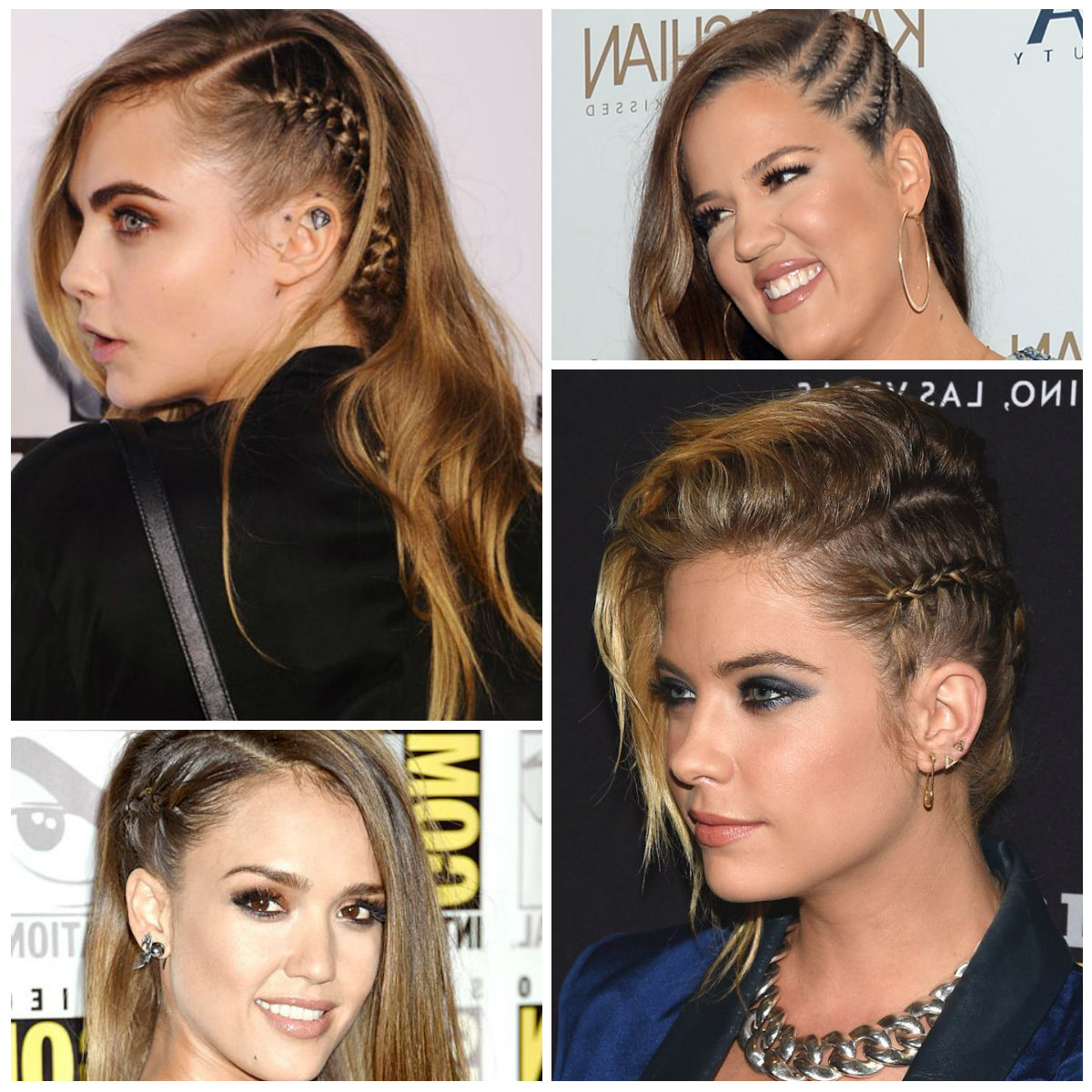 2019 Celebrities With Faux Undercut Braid Hairstyles (View 4 of 20)