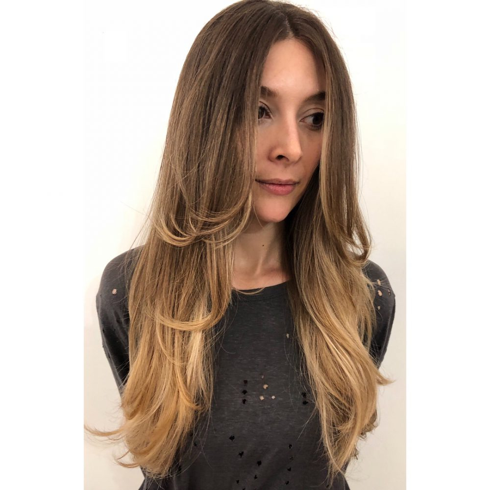 24 Flattering Middle Part Hairstyles In 2019 Within Most Recently Released Center Part Medium Hairstyles (View 10 of 20)