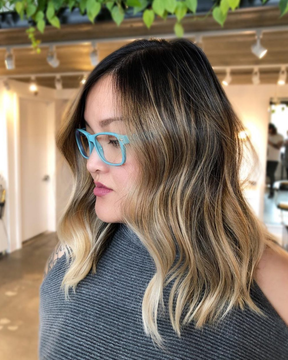 24 Medium Hairstyles For Oval Faces In 2019 Inside Current Medium Hairstyles With Glasses (View 3 of 20)