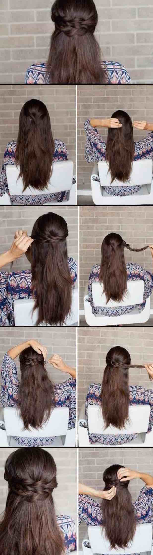 25 Easy Half Up Half Down Hairstyle Tutorials For Prom – The Goddess Within Newest Half Short Half Medium Haircuts (View 16 of 20)