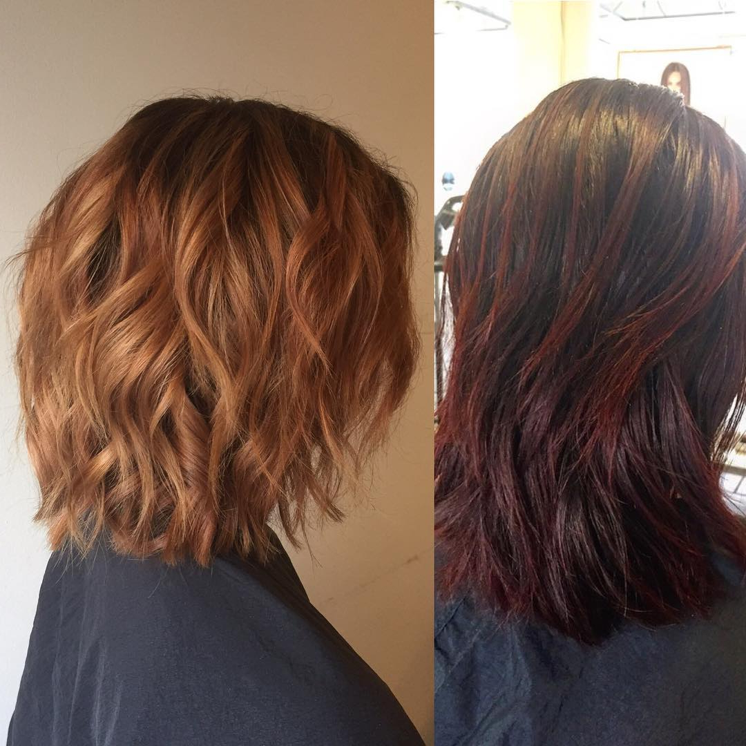 25 Exciting Medium Length Layered Haircuts – Popular Haircuts Inside Widely Used Medium Haircuts With Fiery Ombre Layers (View 5 of 20)