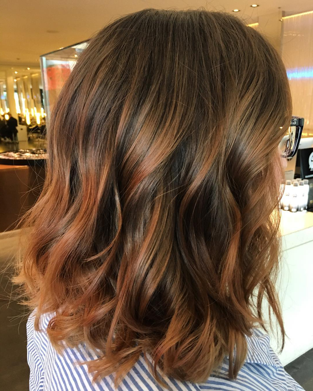25 Exciting Medium Length Layered Haircuts – Popular Haircuts Throughout Trendy Medium Haircuts With Red And Blonde Highlights (View 6 of 20)