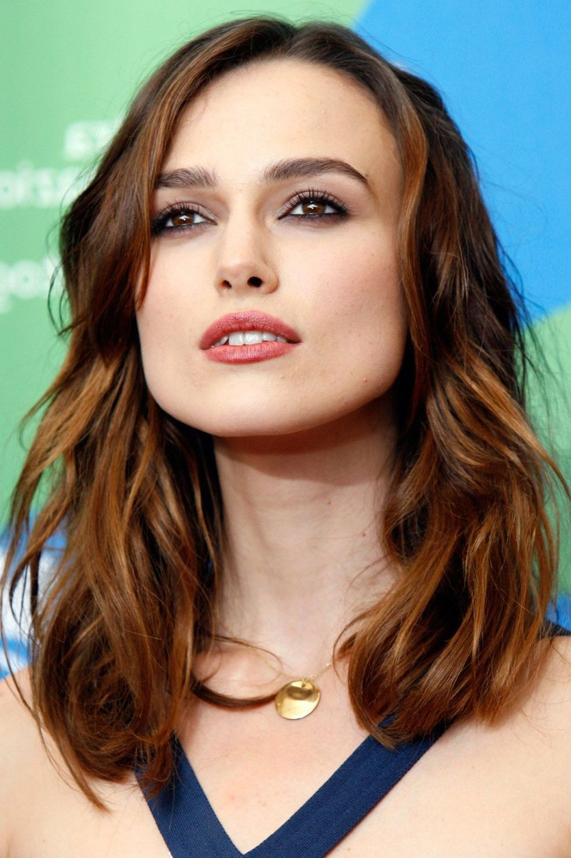 25 Famous Redheads To Inspire You To Try Auburn Hair Color Intended For Well Known Keira Knightley Medium Haircuts (View 3 of 20)