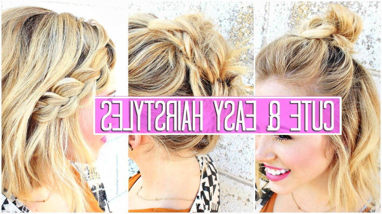 3 Easy Hairstyles For Short / Medium Hair Tutorial (View 9 of 20)