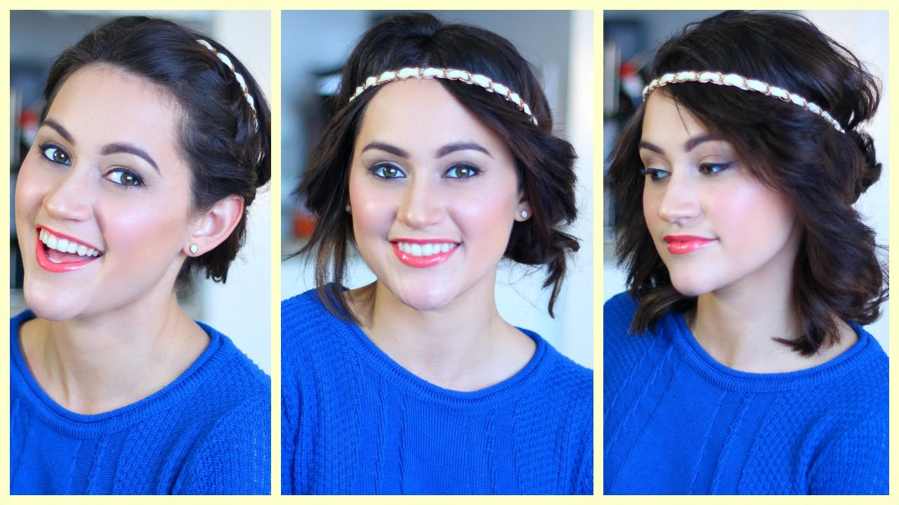 3 Hairstyles For Medium Hair Using A Headband – Youtube Throughout 2017 Medium Hairstyles With Headbands (Gallery 1 of 20)