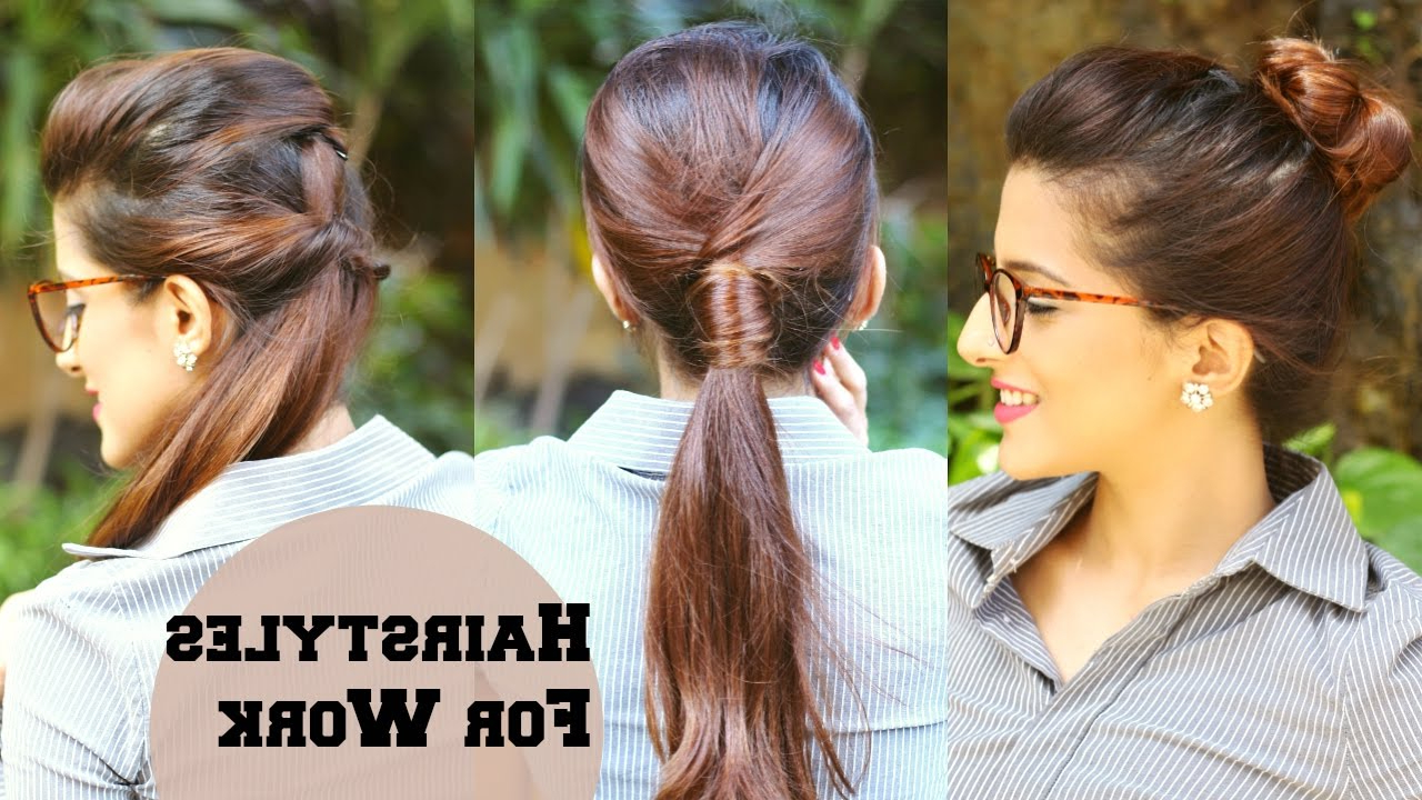 3 Quick Everyday Hairstyles For Work, Office, College / No Teasing For Popular Medium Hairstyles For Work (View 5 of 20)