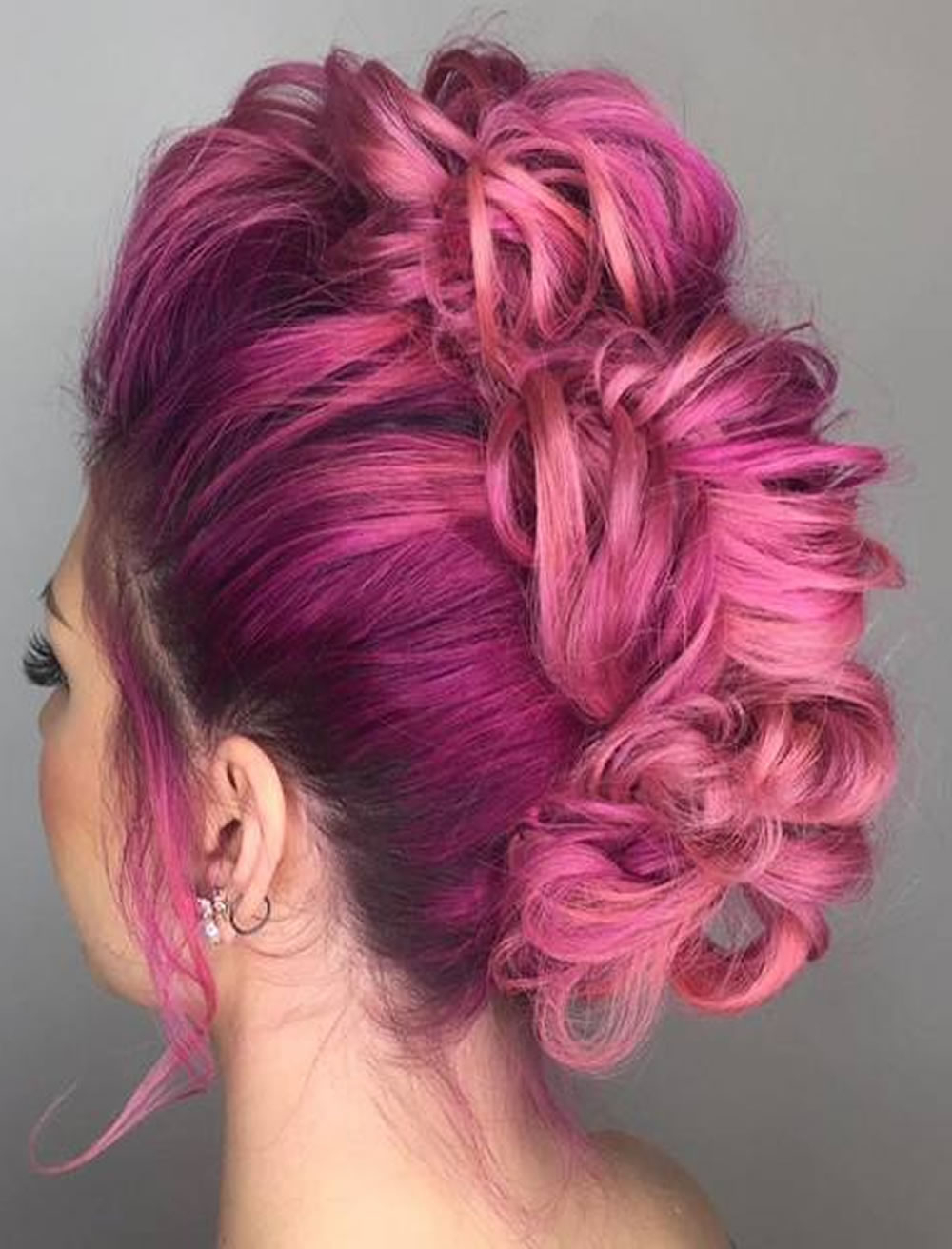 30 Glamorous Braided Mohawk Hairstyles For Girls And Women – Page 5 Pertaining To Famous Glamorous Mohawk Updo Hairstyles (View 3 of 20)