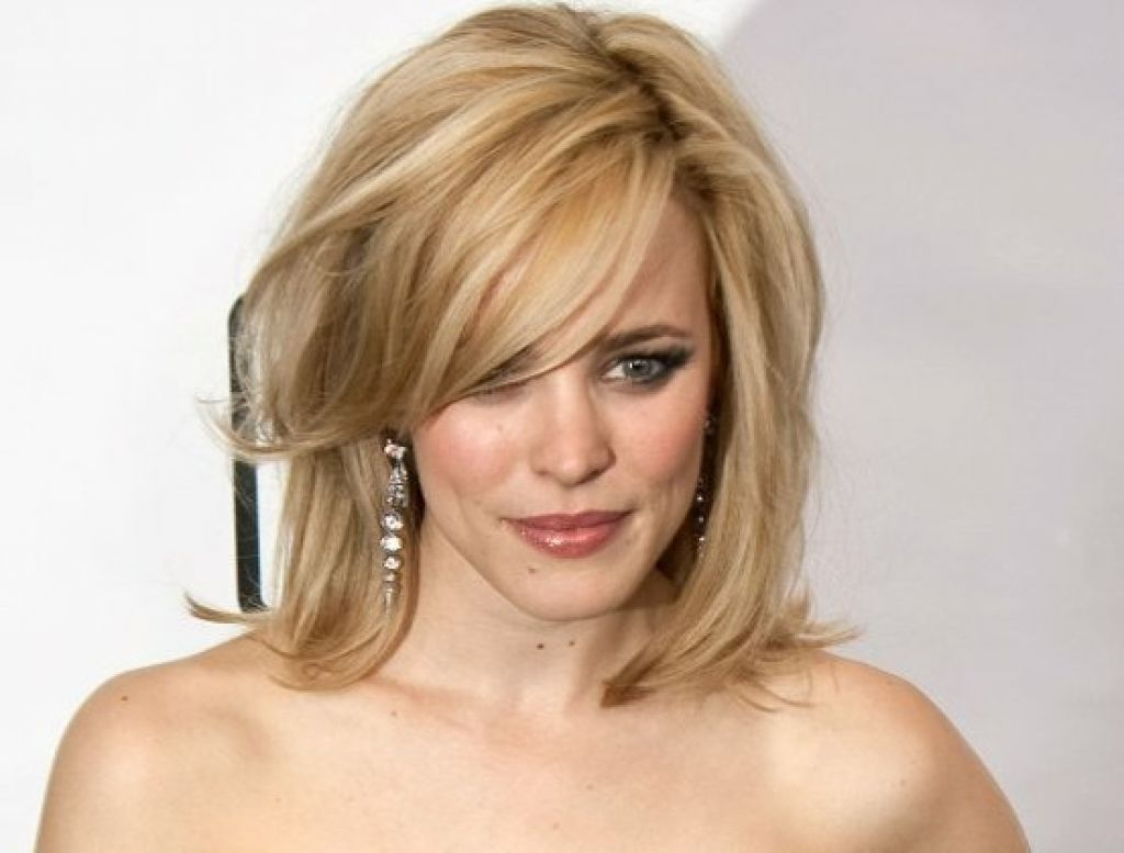 Hairstyles 2019: 20 Photo Of Medium Hairstyles For Round Faces And Fine Hair
