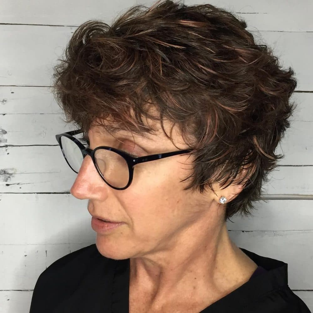 32 Flattering Short Haircuts For Older Women In 2019 Inside Most Recent Medium Hairstyles For Ladies With Glasses (Gallery 16 of 20)