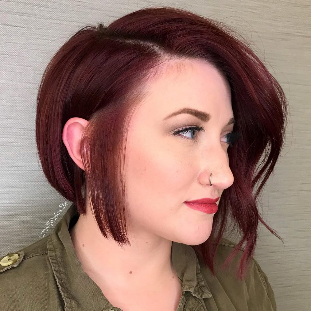 33 Most Flattering Short Hairstyles For Round Faces Inside Most Popular Medium Haircuts For Small Foreheads (View 2 of 20)
