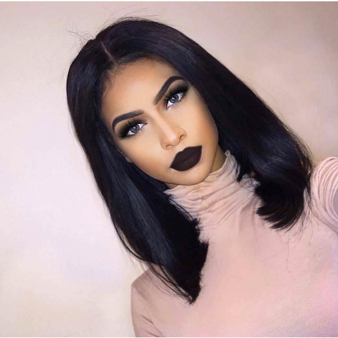 33 Stunning Hairstyles For Black Hair 2019 – Pretty Designs Regarding Current Black Bob Medium Hairstyles (Gallery 1 of 20)