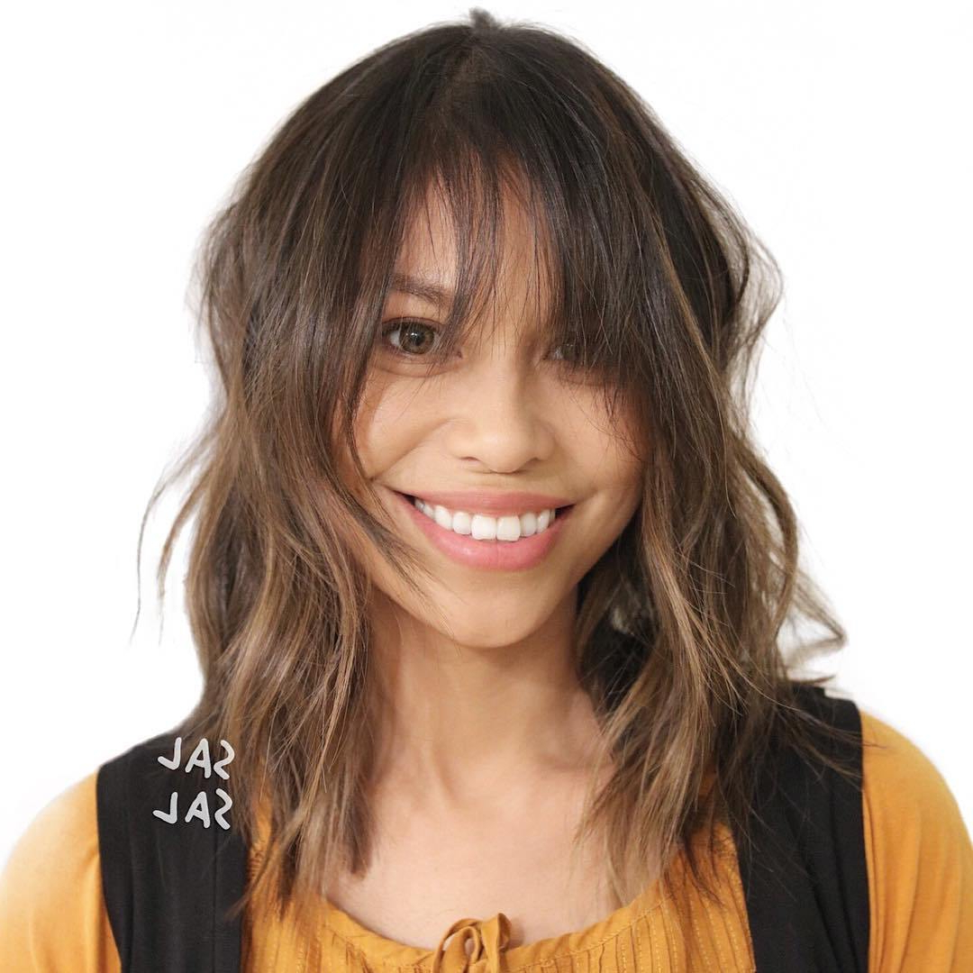 36 Stunning Hairstyles & Haircuts With Bangs For Short, Medium Long With Famous Medium Hairstyles With Long Fringe (View 4 of 20)