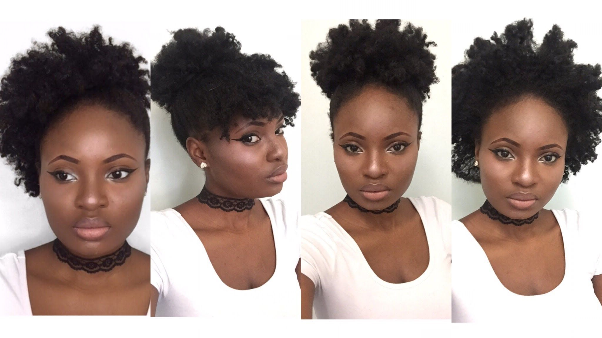 4 Simple Back To School Hairstyles For Medium Natural Hair (4C Inside Fashionable Afro Medium Hairstyles (Gallery 7 of 20)