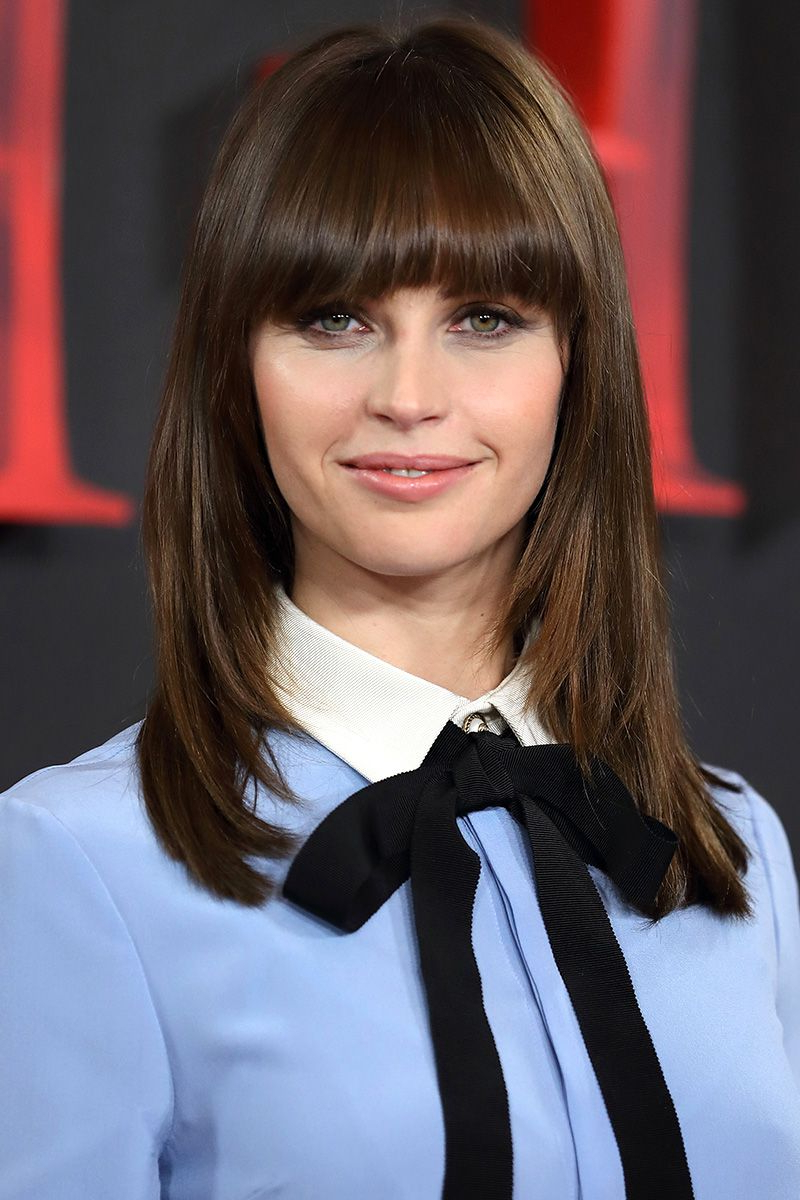 40 Best Medium Hairstyles – Celebrities With Shoulder Length Haircuts Inside Latest Medium Hairstyles With Blunt Bangs (Gallery 16 of 20)