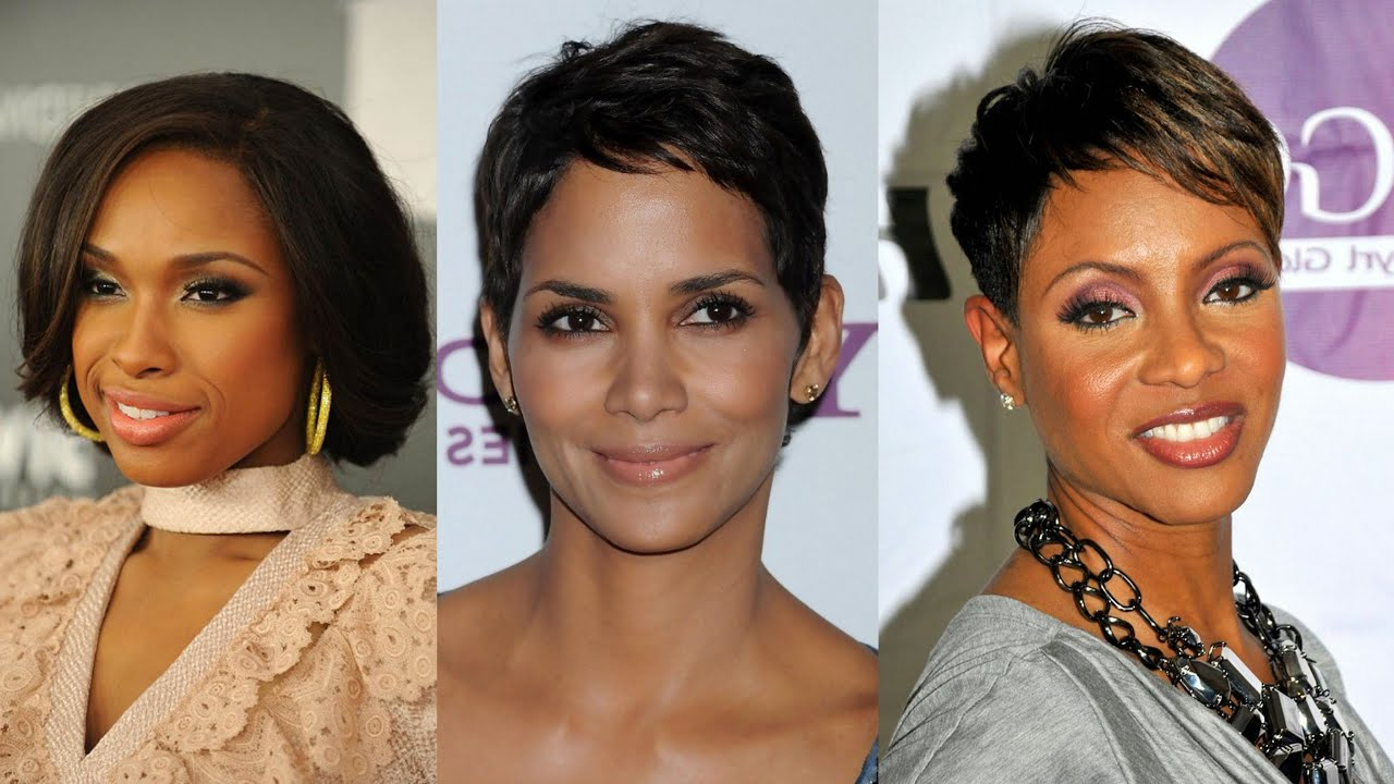 50 Best Short Hairstyles For Black Women Over 40 – Youtube Regarding Most Popular Edgy Medium Haircuts For Black Women (Gallery 18 of 20)