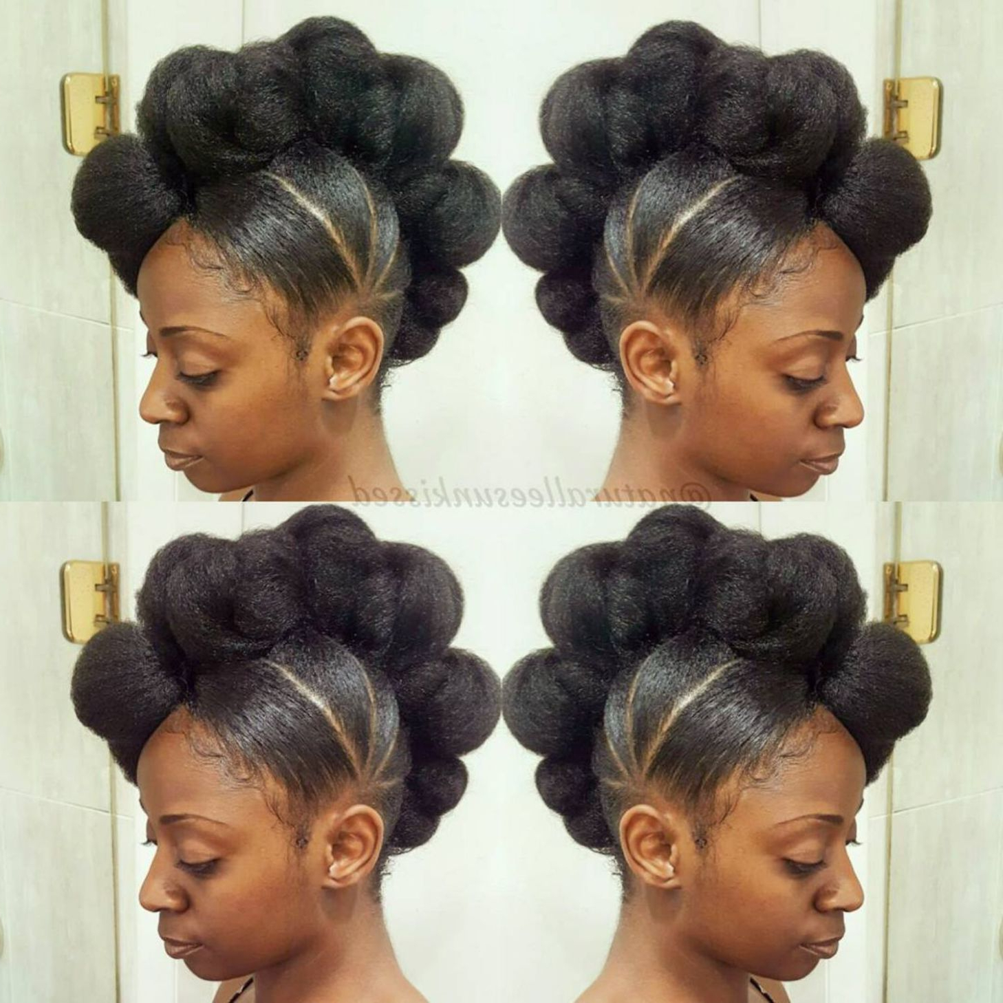 50 Updo Hairstyles For Black Women Ranging From Elegant To Eccentric Within Preferred Cool Mohawk Updo Hairstyles (View 3 of 20)