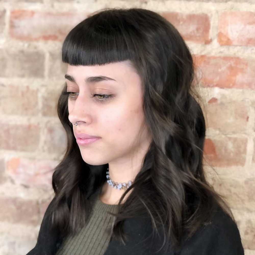 53 Popular Medium Length Hairstyles With Bangs In 2019 Inside Fashionable Medium Hairstyles With Straight Bangs (View 10 of 20)