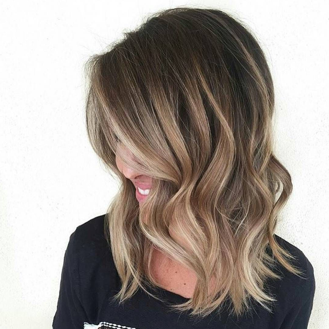 60 Balayage Hair Color Ideas With Blonde, Brown, Caramel And Red In Recent Caramel Lob Hairstyles With Delicate Layers (View 2 of 20)