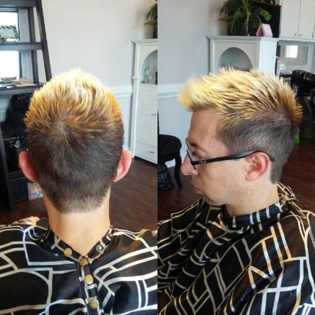 60 Best Hair Color Ideas For Men – Express Yourself (2018) Within 2018 Mohawk Haircuts With Blonde Highlights (View 4 of 20)