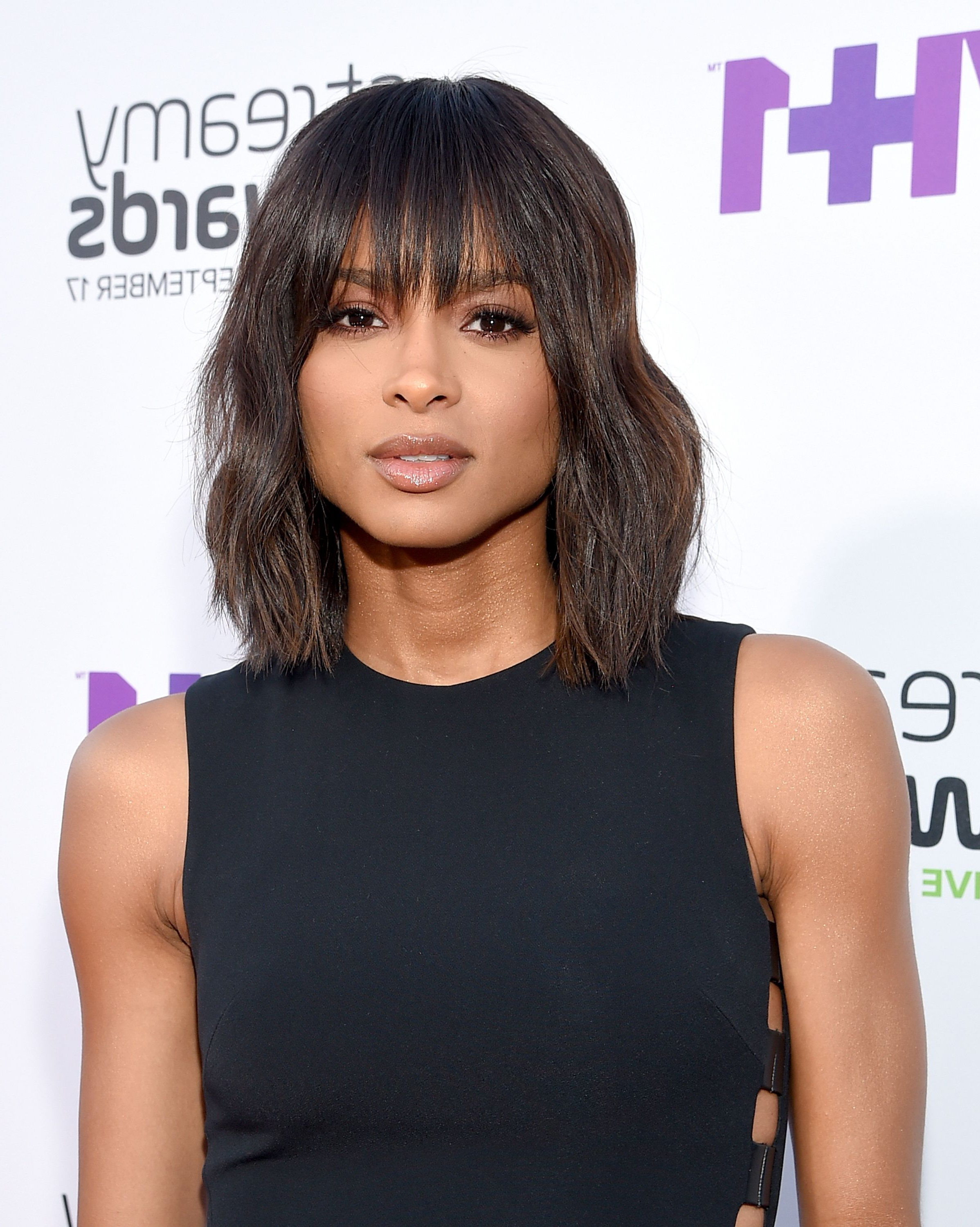 60 Best Medium Hairstyles And Shoulder Length Haircuts Of 2018 In Most Popular Medium Haircuts With Straight Bangs (View 6 of 20)