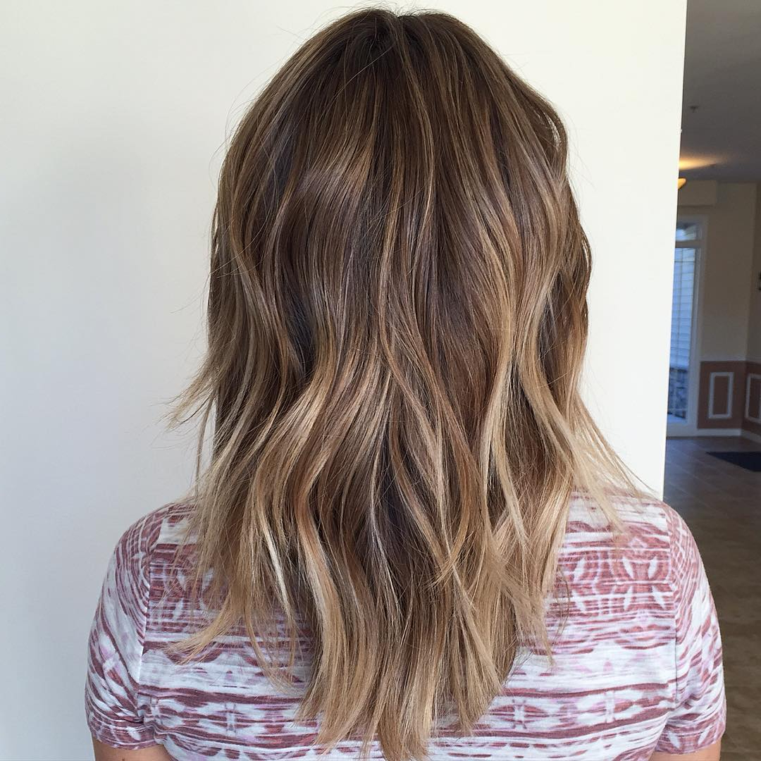 60 Hottest Balayage Hair Color Ideas 2019 – Balayage Hairstyles For Intended For Favorite Two Tier Caramel Blonde Lob Hairstyles (View 16 of 20)